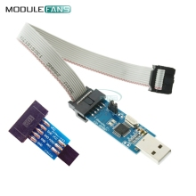10 Pin Convert to Standard 6 Pin Adapter Board+USBASP USBISP AVR Programmer USB(China)