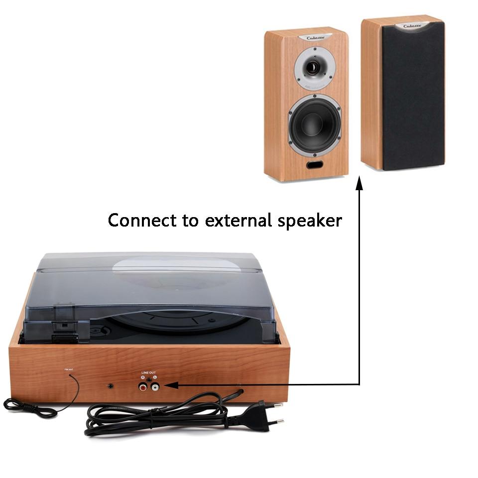 LoopTone 33/45/78 Speed USB Turntable Players Vinyl LP Record Player w/ FM Radio Earphone Jack 45 RPM Adaptor AC110~130&220~240V
