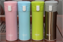 True ONEDAY brand's colored stainless steel thermos with the plastic cap 400 ml(China)