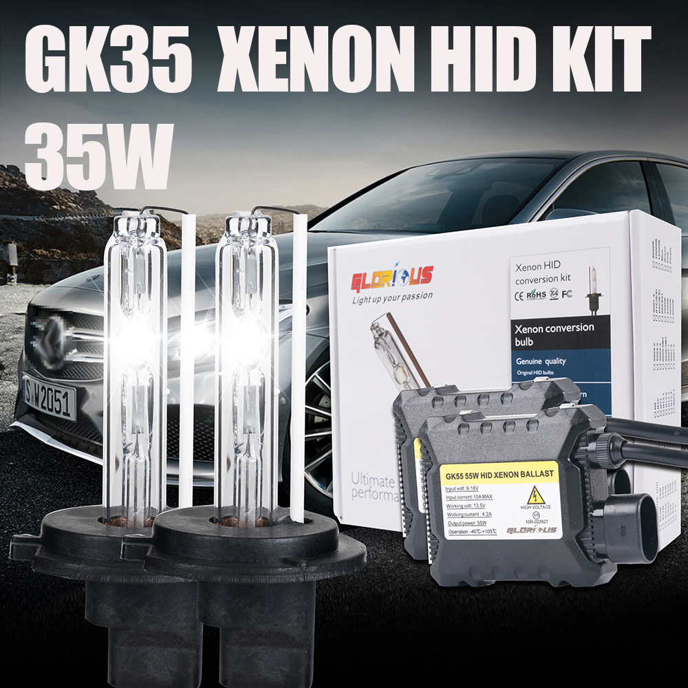 Slim DC 35W HID Xenon Kit  H1 bulb xenon light bulbHID Ballast Kit 4300K 6000K 8000K for car headlight,H1 xenon bulb<br><br>Aliexpress