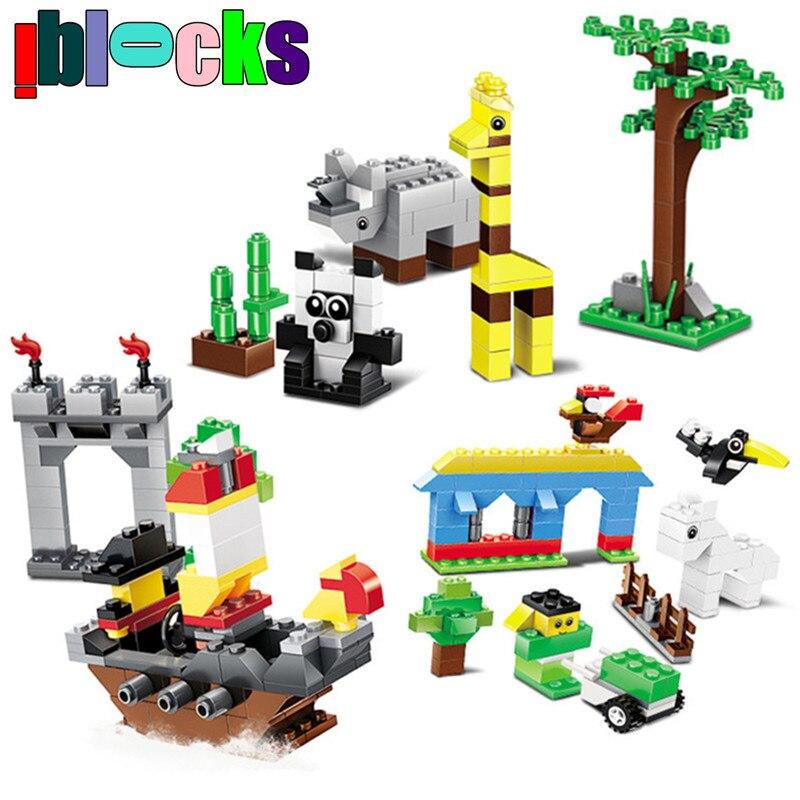 IBLOCKS Classic Loose Creative DIY Zoo Animal Plastic Building Blocks Enlighten Bricks Set Educational Toys For Children 5+<br><br>Aliexpress