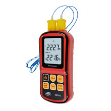 BENETECH GM1312 -50~300C Thermocouple Thermometer Dual-channel Digital Temperature Meter For K/J/T/E/R/S/N LCD Termometro