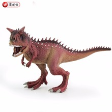 Wiben Jurassic Carnotaurus Action Figure Animal Model Collection Vivid Hand Painted Souvenir Plastic toy Dinosaur Birthday Gift