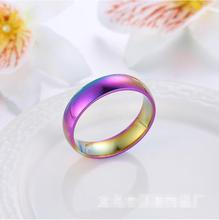 Fahion Rainbow Rings wholesale stainless steel jewelry china Suppliers Wedding Ring Women sale Fashion Ladies Cheap ring