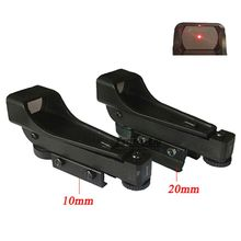 New Tactical Reflex sight Red Dot Sight Scope Wide View Airgun 10 / 20mm Weaver Rail Mounts1x20x30 Riflescope Airsoft