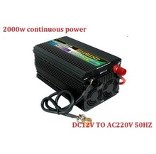 high quality inverter 12v/24v 220v 2000w continuous power peak power up to 4000w modified sine wave power inverter