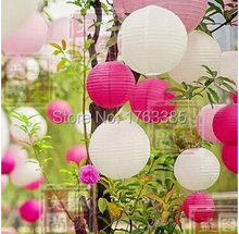 36 Mixed White Pink Hot Pink Paper Lantern Lampshades for Wedding Birthday Party Home Decoration