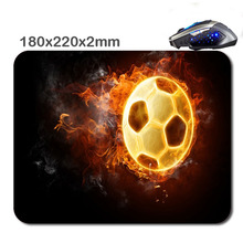 DIY Soccer ball on fireWholesale Large Mouse Pad Non-Skid Rubber Pad Gaming Mouse Pad for office gift 220*180*2MM 290*250*2mm