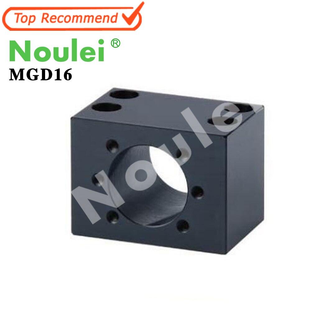 Noulei MGD16 ballscrew SFU1605 ball nut housing Bracket MGD Black<br>