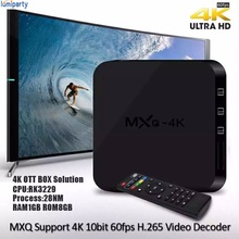 LumiParty hot MXQ 4k Rockchip RK3229 Quad-core TV Box Android 6.0 DDR3 1GB Onboard Flash 8GB HD 1080P 2.4G Wifi drop shipping(China)