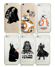 Star Wars Starwars BB-8 Droid Robot Figure Cool Darth Vader Plastic Case For iPhone 4 4s 5 5s SE 5c 6 6s Plus,7 7 Plus