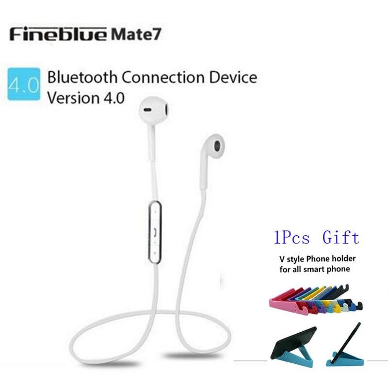 Original Fineblue Mate7 Blutooth Earphone Wireless Music Auriculares Stereo Sport Headset Microphone Fone De Ouvido for Running<br><br>Aliexpress