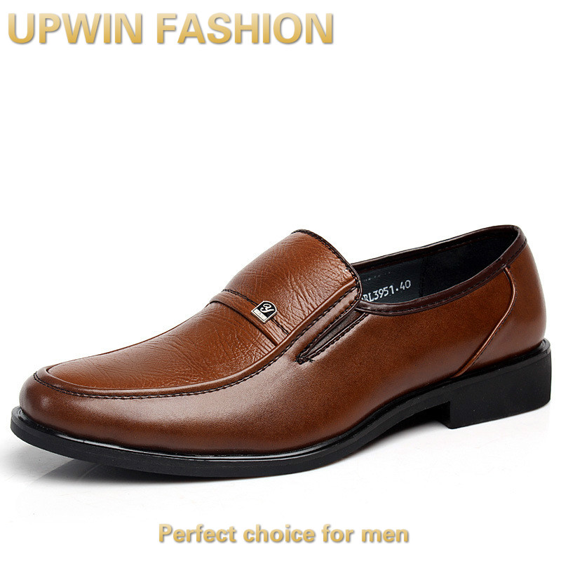 LANSHITINA Brand Size 38-44 New Slip-on Men Business Casual Shoes Genuine Leather Men Oxfords Wedding/Dress Shoes 3951 <br><br>Aliexpress