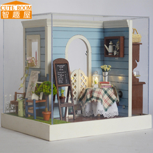 Assemble DIY Doll House Toy Wooden Miniatura Doll Houses Miniature Dollhouse toys With Furniture LED Lights Birthday Gift Z002