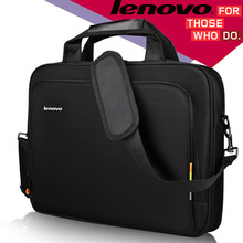 "Laptop Shoulder Bag Women Men Notebook Sleeve Messenger HandBag Briefcase Carry Bags for Lenovo Laptop Bag Black 14"" 15.6"" inch(China)"