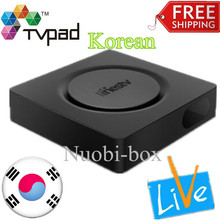 [Genuine] LINESTV Korean Tvpad 4 tv box Korea Built-in WIFI Android TV Box free korean live channels Streaming IPTV HD TV TVPAD4(China)