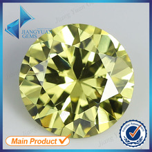 50pcs 5A 0.8-6.0mm Dark Olive Color Loose Cubic Zirconia CZ Stone Round Shape European Machine Cut Synthetic Gemstone
