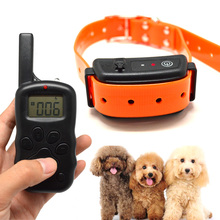Pet Training Collar Rechargeable And Waterproof Vibration ok for dog Diving Swim Anti Bark Collar For 1 Dog 600B(China)