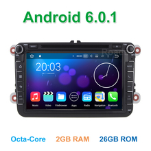 8 Octa Core Android 6.0.1 Car DVD Player for Volkswagen VW Passat B5 B6 B7 CC Jetta Touran Tiguan Golf 5 6 with GPS WiFi Radio(China)
