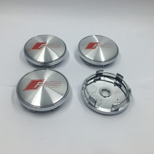 4 pcs 60mm Good Quality Chrome S LINE SLINE Wheel Hub Cap Centra Caps Badge Emblem For A3 A4 A5 A6 A7 A8 S3 S4 S5 S6 S7(China)