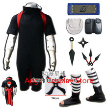 Free Express Shipping New Anime Uzumaki Naruto Sasuke Uchiha Cosplay Hallowmas Naruto Sasuke Uchiha Costume full set Any Size