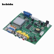 kebidu Digital 24-bit Male RGB CGA EGA YUV to VGA Female Green HD9800 Video Converter Board Supports All Types of VGA Monitor(China)