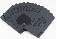 Limited Edition Waterproof Black Plastic Playing Cards Collection Black Diamond Poker Cards Creative Gift Standard Playing Cards(China)