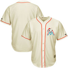MLB Men's Miami Marlins Baseball Cream Fashion Cool Base Ivory Team Jersey(China)