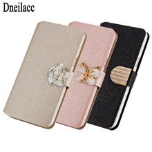 Top quality Leather Flip Case cover For LG G3 Stylus D690 phone with Flower and butterfly(China)