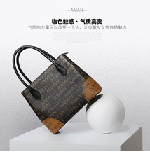 Free shipping Classic Women Shopping Bag flandrin Fashion Brand Monogram Canvas Handbags Shoulder real leather Bagsa(China)