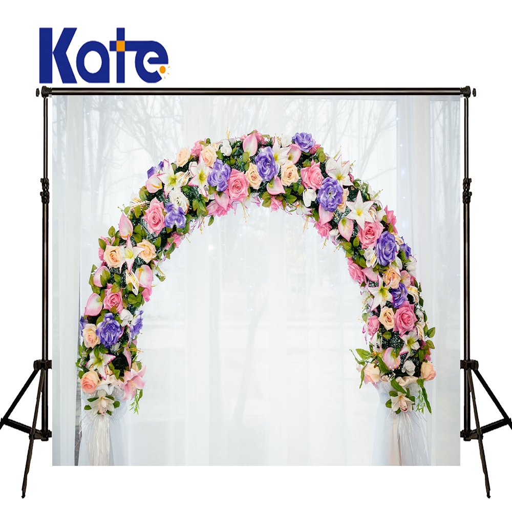 Kate Curtain Photography Backdrop Flower Stands Wedding Backdrops Beach Wedding Background for fondos de estudio fotografia<br>