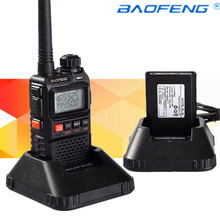 Newest baofeng uv-3r Plus Interphone Two 2 Way Radio Portable Mini Walkie Talkie For Uhf Mobile Radio Dual Band Vhf Radio Marine(China)