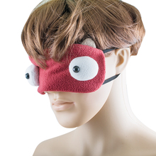 New portable Cartoon Eye Sleep Mask Bright Eyes Mask Funny Eye Mask Adjustable Head Strap For Travel Sleep Fahsion Style(China)