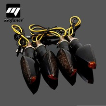 4pcs Universal Motorcycle 15 LED Black Turn Signal Indicator Light Lamp Amber Blinker Smoked Lens For Yamaha/Suzuki/KTM(China)