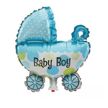 Cute Mini baby carriage bay girl  inflatable Foil Balloon For Children's Toy Birthday baby shower Party Decoration