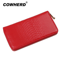 Best Selling Wallet Women Genuine Leather Purse Female Fashion Stone Pattern Day Clutch Zipper Bag, YW-DM528(China)