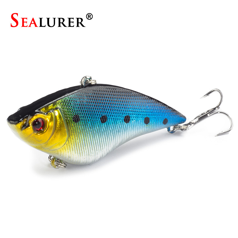 1pcs 7cm 16g  Winter Fishing Hard Bait VIB with Lead Inside Ice Sea Fishing Tackle Diving Swivel Jig Wobbler Lure<br><br>Aliexpress