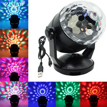 ZINUO Voice Control RGB LED Stage Lamps Battery Operated Crystal Magic Ball Laser Projector Disco Stage Effect Light(China)