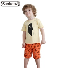 Boys Children Clothing Set Cotton Kids Clothes Summer Brand Sport Suits for Boys Toddler Baby (Tshirts + Shorts) 2016