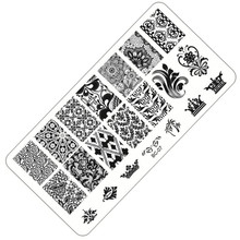 1 Sheet Lace&Flowers Series Stamping Nail Art Image Plate, 6*12cm Stainless Steel Template Polish Manicure Stencil Tools BC-07(China)