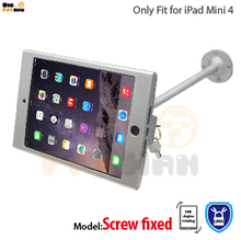 tablet pc display flexible gooseneck wall mount holder stand for iPad mini 4 security safe locked metal box foothold support arm(China)