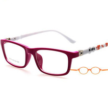 TR Plastic Titanium Kids Glasses Frames Flexible Elasticity Food Grade Material Rubber Spring Hinge for boys 8806