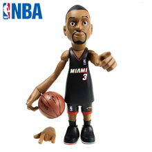 16cm NBA The Miami Heat All-Star Basketballplayer Dwyane Wade Action Figure Q Version Of Mode For Christmas Gift