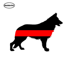HotMeiNi 13x9.1cm Car Styling German Shepard Fireman K9 Dog Red Line Sticker Car Truck Cup Waterproof Laptop Windows Accessories(China)
