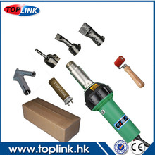 Newest 220V 1600W TOPLINK PVC Plastic Welding Hot Air Gun Welder Kits+Pressure Silicon Roller+Flat Nozzle(China)