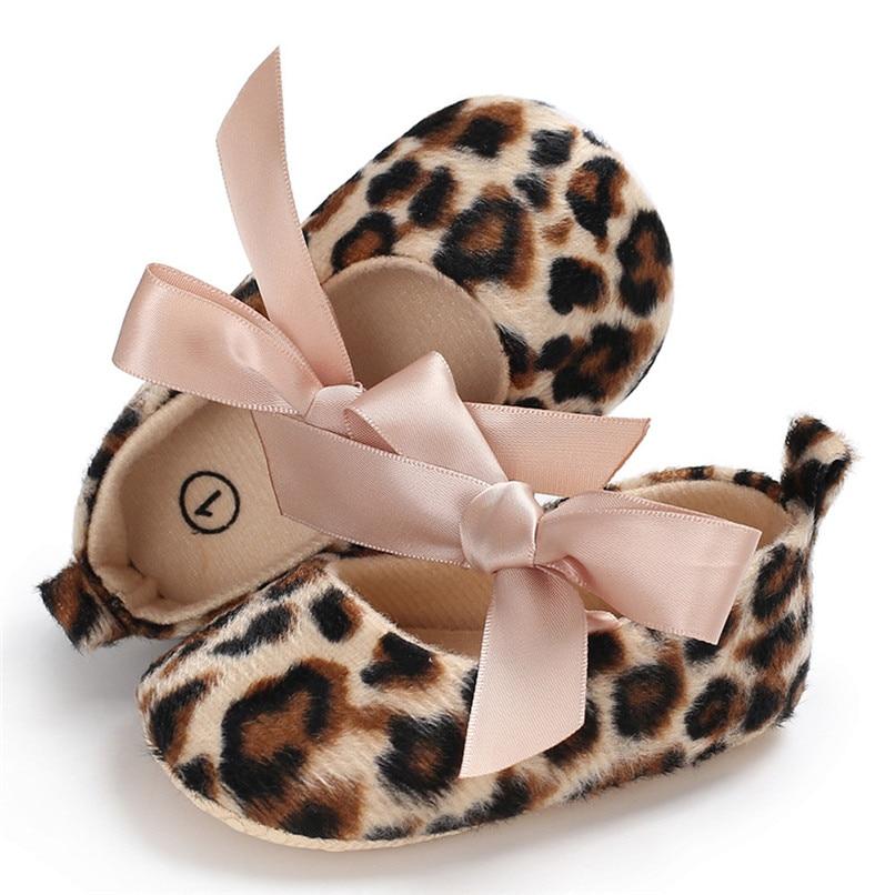 Toddler Cute Girl Leopard Print Tie Soft Newborn Anti-slip Baby Shoes First Walker A84L073 (6)