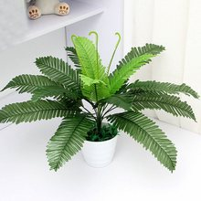 Artificial Silk Foliage Plant Simulaton Plastic Large Boston Fern For Office Home Indoor Garden Decoration 40cm(China)