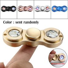 Hand Finger Spinner Aluminum Alloy Color Changing EDC Gyro Relief Focus Toy For ADD ADHD Stress Reducer longer duration