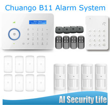 Etiger PSTN/GSM Home Alarm System White Panel Wireless Keypad For Disarm LCD Display 315MHZ RFID Card Arm