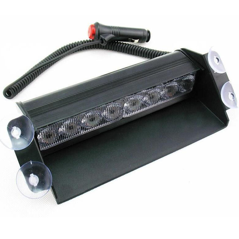 12V Car Strobe Lights 8 LED Auto Warning Light Waterproof Signal Flashing Emergency Lamp For SUV Truck Windshield Flash Light<br><br>Aliexpress